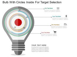 one Bulb With Circles Inside For Target Selection Flat Powerpoint Design