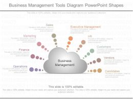 One Business Management Tools Diagram Powerpoint Shapes
