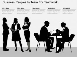 one Business Peoples In Team For Teamwork Flat Powerpoint Design