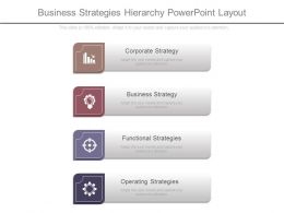 One Business Strategies Hierarchy Powerpoint Layout