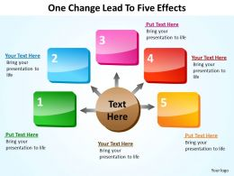 one change leads to five effects cause powerpoint diagram templates graphics 712