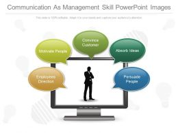 One Communication As Management Skill Powerpoint Images