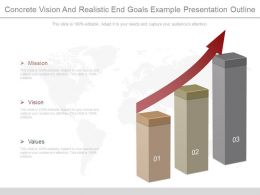 One Concrete Vision And Realistic End Goals Example Presentation Outline