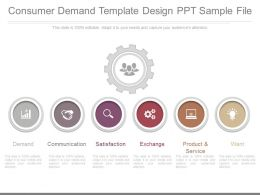 One Consumer Demand Template Design Ppt Sample File
