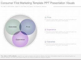 One Consumer First Marketing Template Ppt Presentation Visuals
