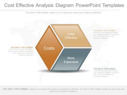 One Cost Effective Analysis Diagram Powerpoint Templates