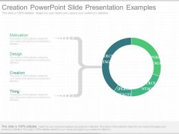 One Creation Powerpoint Slide Presentation Examples