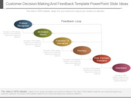 One Customer Decision Making And Feedback Template Powerpoint Slide Ideas