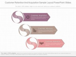 One Customer Retention And Acquisition Sample Layout Powerpoint Slides