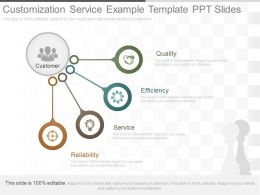 One Customization Service Example Template Ppt Slides