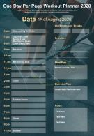 One Day Per Page Workout Planner 2020 Presentation Report Infographic PPT PDF Document