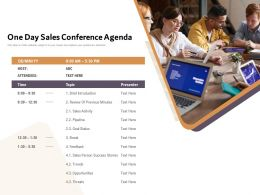 One Day Sales Conference Agenda