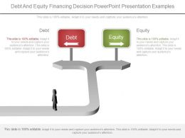 One Debt And Equity Financing Decision Powerpoint Presentation Examples
