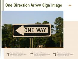 One Direction Arrow Sign Image