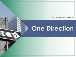 One Direction Pointing Magnetic Compass Arrow Blowing