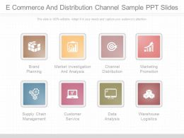 One E Commerce And Distribution Channel Sample Ppt Slides