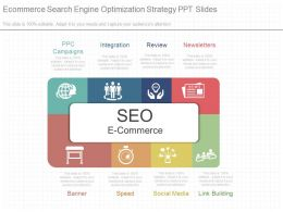 One Ecommerce Search Engine Optimization Strategy Ppt Slides