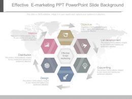 One Effective E Marketing Ppt Powerpoint Slide Background