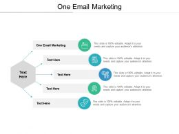 One Email Marketing Ppt Powerpoint Presentation Summary Graphics Cpb