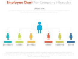 one Employee Chart For Company Hierarchy Flat Powerpoint Design