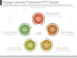 One Engage Learning Framework Ppt Sample