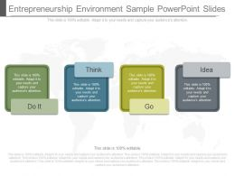 One Entrepreneurship Environment Sample Powerpoint Slides