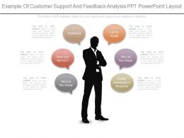 One Example Of Customer Support And Feedback Analysis Ppt Powerpoint Layout