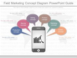 One Field Marketing Concept Diagram Powerpoint Guide