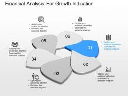 one Financial Analysis For Growth Indication Powerpoint Template