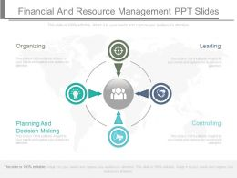One Financial And Resource Management Ppt Slides