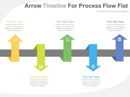 one Five Arrows Timeline For Process Flow Flat Powerpoint Design