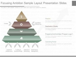 One Focusing Ambition Sample Layout Presentation Slides