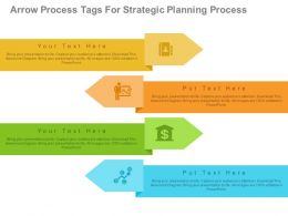 one Four Arrow Process Tags For Strategic Planning Process Flat Powerpoint Design