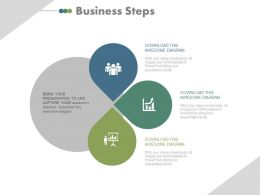 one Four Business Steps For Balanced Scorecard Process Flat Powerpoint Design