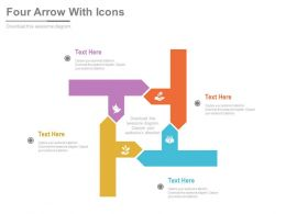 one Four Staged Arrow Infographics And Icons For Financial Data Flat Powerpoint Design