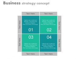 one Four Staged Business Strategy Diagram Flat Powerpoint Design