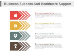 one Four Tags For Business Success And Healthcare Support Flat Powerpoint Design