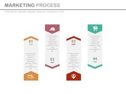 one Four Tags For Marketing Process Flow Flat Powerpoint Design