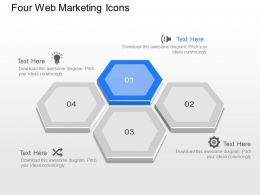 one Four Web Marketing Icons Powerpoint Template