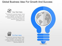 one Global Business Idea For Growth And Success Powerpoint Template