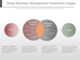 One Global Business Management Powerpoint Images