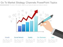 One Go To Market Strategy Channels Powerpoint Topics