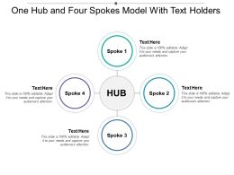 One Hub And Four Spokes Model With Text Holders