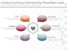 One Individual And Group Brainstorming Presentation Ideas