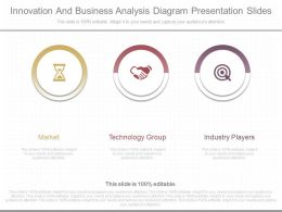 One Innovation And Business Analysis Diagram Presentation Slides