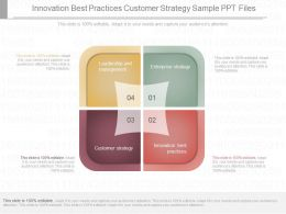 One Innovation Best Practices Customer Strategy Sample Ppt Files