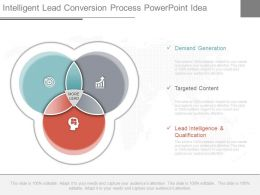 One Intelligent Lead Conversion Process Powerpoint Idea