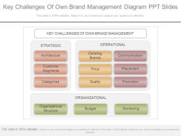 One Key Challenges Of Own Brand Management Diagram Ppt Slides