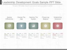 One Leadership Development Goals Sample Ppt Slide