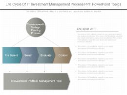 One Life Cycle Of It Investment Management Process Ppt Powerpoint Topics